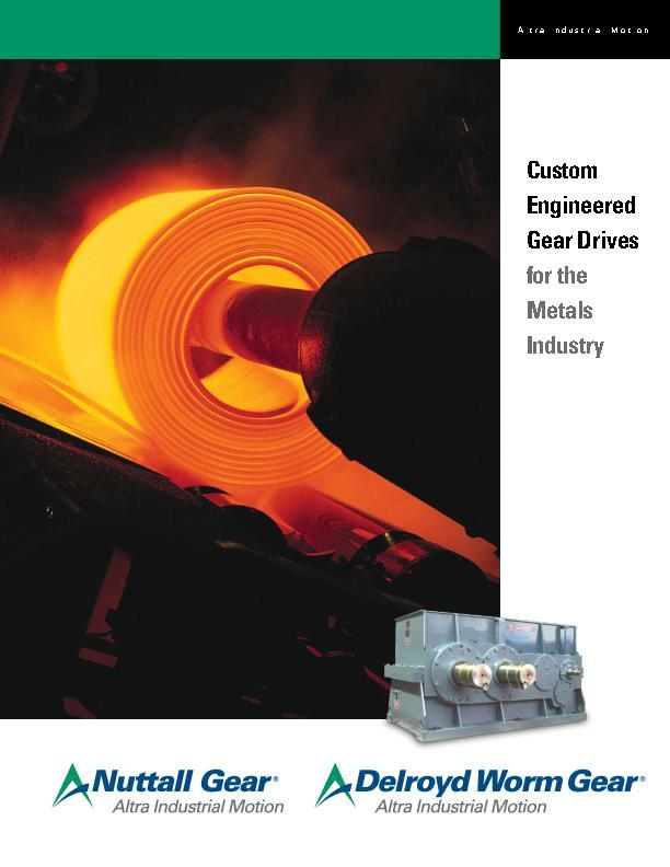Custom Engineered Gear Drives for the Metal Industry