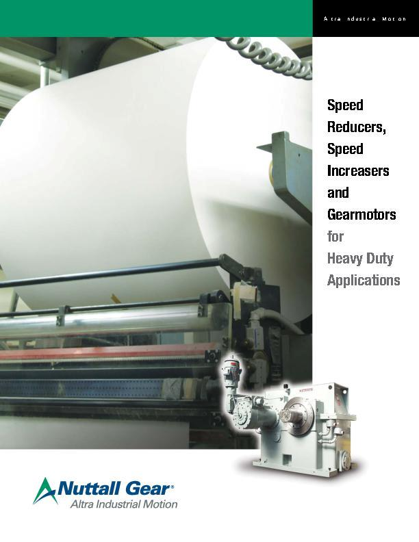 Speed Reducers, Speed Increasers & Gearmotors for Heavy Duty Applications